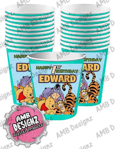 Winnie the Pooh Party Cups - Winnie the Pooh Party Supplies