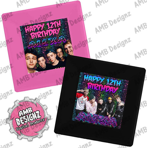 Why Don't We Party Plates - Why Don't We Party Supplies
