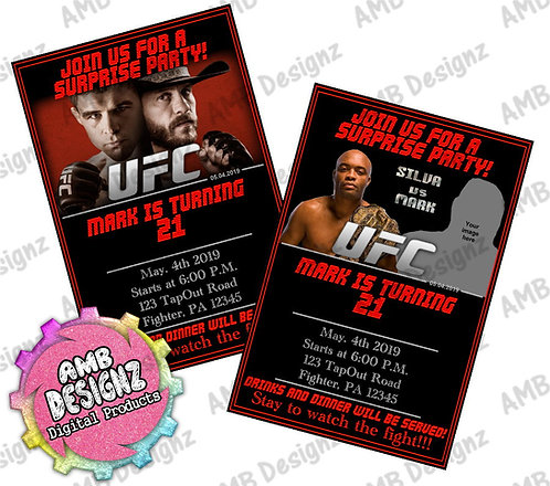 UFC Invitations Party Supplies