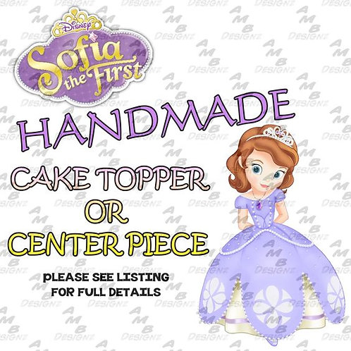 Sofia the first Cake Topper Centerpiece