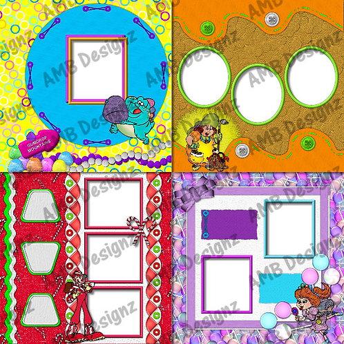 CandyLand Digital Scrapbooking Premade Album/Pages