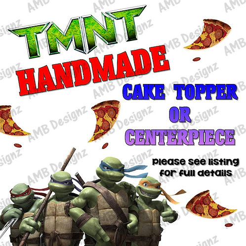 TMNT Cake Topper Centerpiece