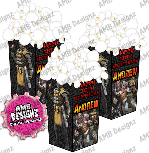 Apex Legends Popcorn Box Favor - Apex Legends Party Supplies