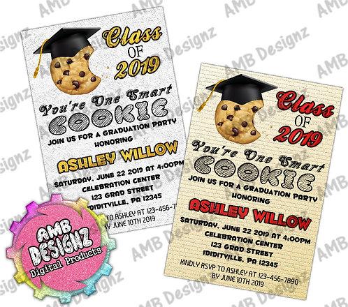 One Smart Cookie Graduation Invitations - Graduation Party Supplies