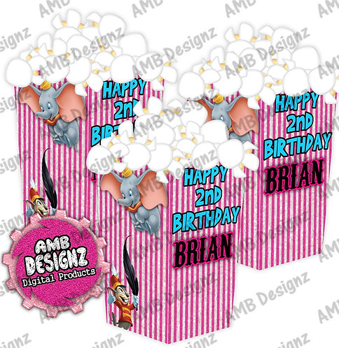 Dumbo Popcorn Box Favor 2 - Dumbo Party Supplies
