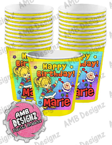 Rainbow Brite Party Cups Party Supplies