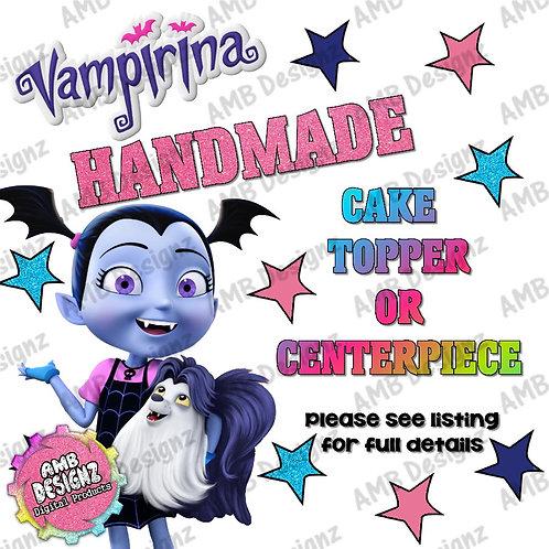 Vampirina Cake Topper Centerpiece Party Supplies