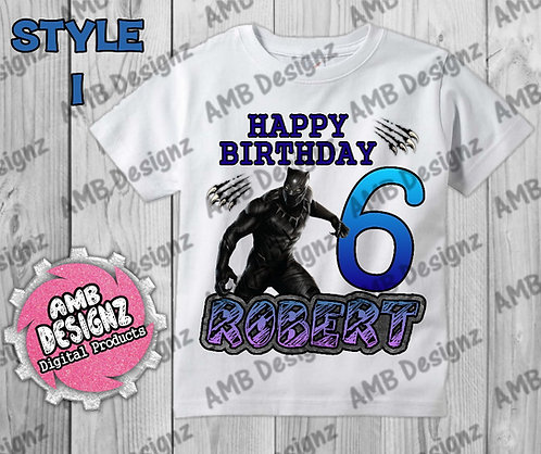 Black Panther T-Shirt Birthday Image - Black Panther Party Supplies