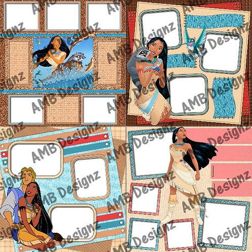 Disney's Princess Pocahontas Digital Scrapbooking Premade Albu