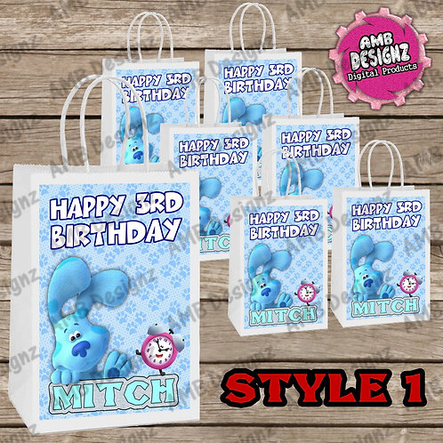 Blues Clues Favor Bag Label Party Supplies - Blues Clues Party Supplies