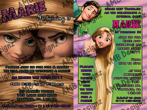 Disney Princess Tangled invitations