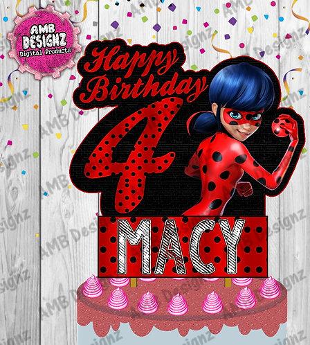 Miraculous Ladybug Cake Topper Centerpiece - Miraculous Ladybug Party Supplies
