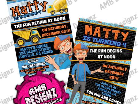 Blippi Party Ideas & Blippi Party Supplies
