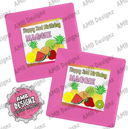 Tutti Frutti Party Plates - Tutti Frutti Party Supplies
