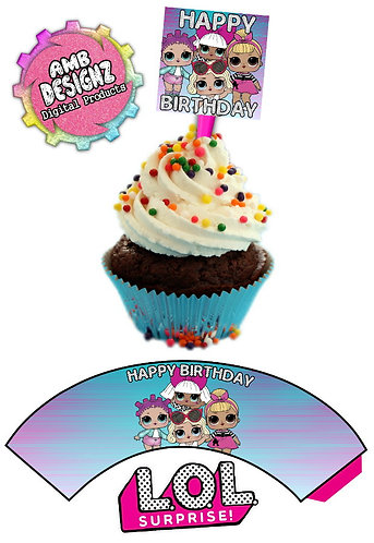 LOL Surprise Cupcake Toppers Party Supplies