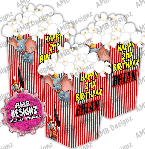 Dumbo Popcorn Box Favor- Dumbo Party Supplies