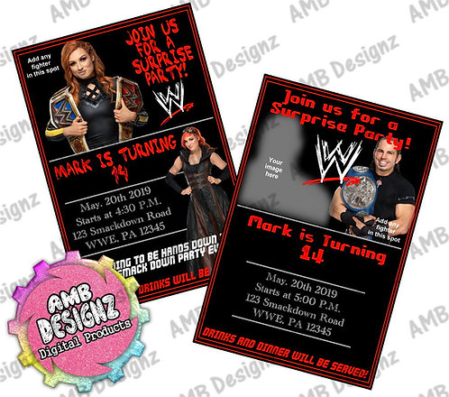WWE Invitations Party Supplies
