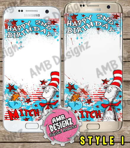 Dr. Seuss The Cat in the Hat Snapchat Filter - Dr. Seuss Party Supplies