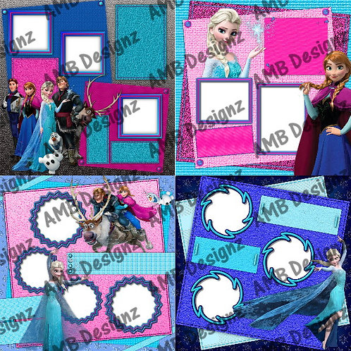 Disney's Frozen Digital Scrapbooking Premade Album/Pages
