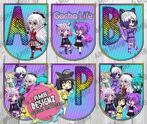 Gacha Life Party Banner -  Gacha Life Party Supplies