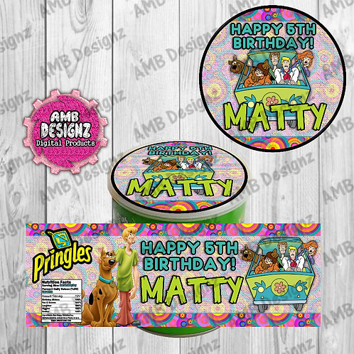 Scooby Doo Pringles Can Labels - Scooby Doo Party Supplies