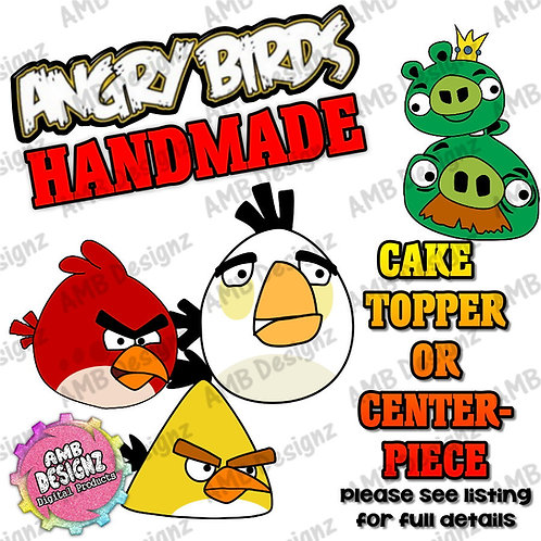 Angry Birds Cake Topper Centerpiece