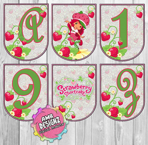 Strawberry Shortcake Party Banner - Strawberry Shortcake Party Supplies