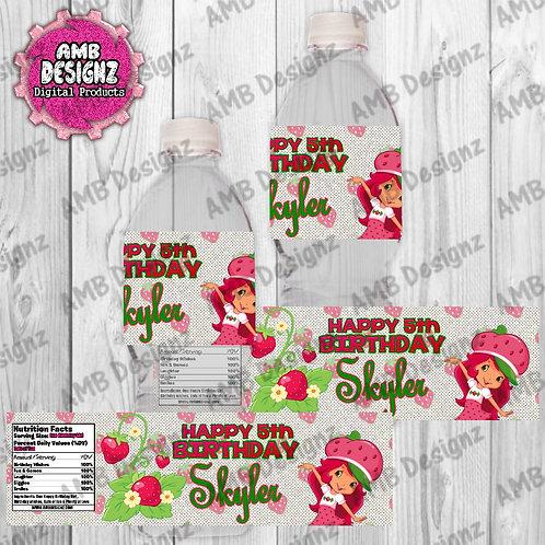 Strawberry Shortcake Water Bottle Wrapper - Strawberry Shortcake Party Supplies