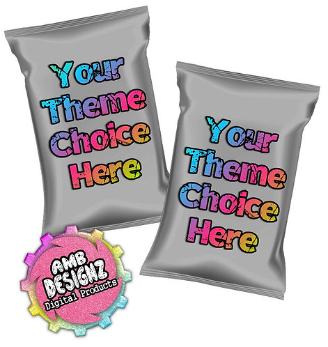 Chip Bag Party Favors Printable Party Supplies