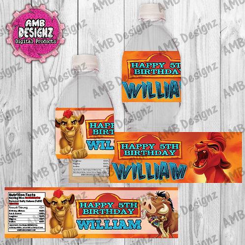 Lion Guard - Lion King Water Bottle Wrapper - Lion Guard Party Supplies