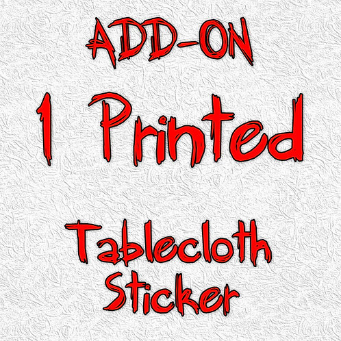 1 Printed Tablecloth Sticker - ADD-ON