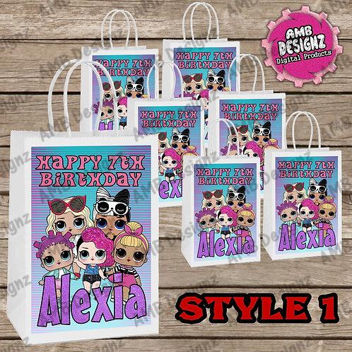 LOL Surprise Favor Bag Label Party Supplies - LOL Surprise Party Supplies