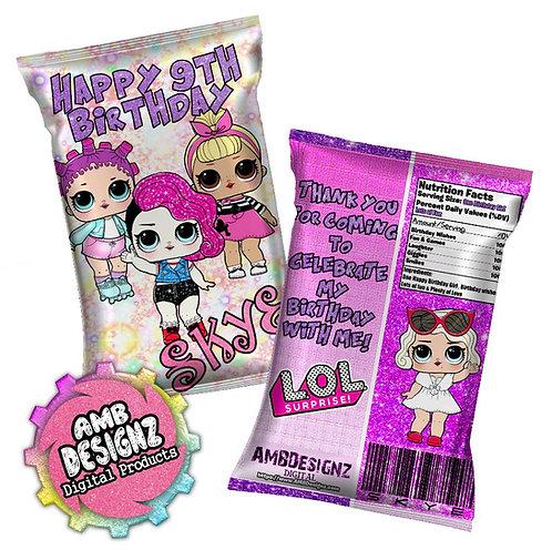 LOL Surprise Chip Bag Party Favor LOL Surprise Party Supplies