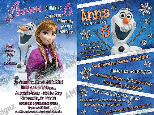 Disney's Frozen Invitations