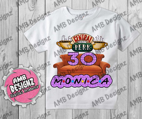 Friends T-Shirt Birthday Image - Friends Party Supplies