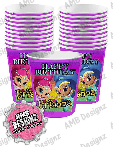 Shimmer and Shine Party Cups Party Supplies