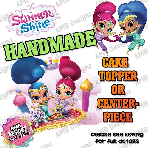 Shimmer and Shine Cake Topper Centerpiece