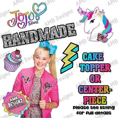 Jojo Siwa Cake Topper Centerpiece