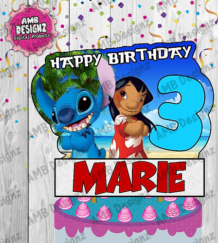 Lilo and Stitch Cake Topper Centerpiece - Lilo and Stitch Party Supplies