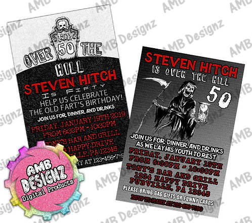 Over the hill invitations Party Supplies