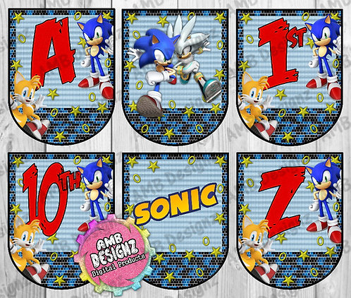 Sonic the Hedgehog Party Banner Party Supplies