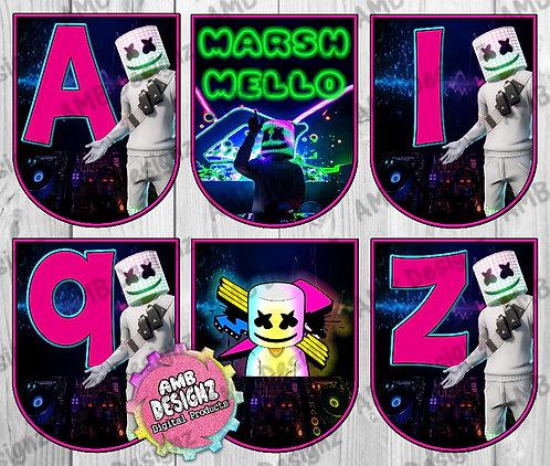 DJ Marshmello Party Banner - DJ Marshmello Party Supplies