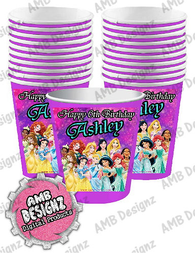 Disney Princess Party Cups Party Supplies