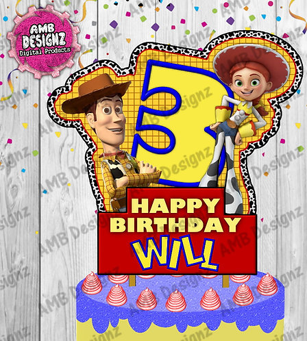 Toy Story DIY Cake Topper Centerpiece - Toy Story Party Supplies
