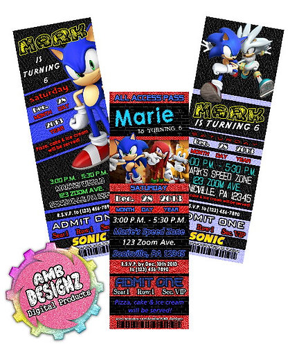 Sonic the Hedgehog invitations Party Supplies