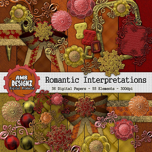 Romantic interpretations Digital Scrapbooking Kit