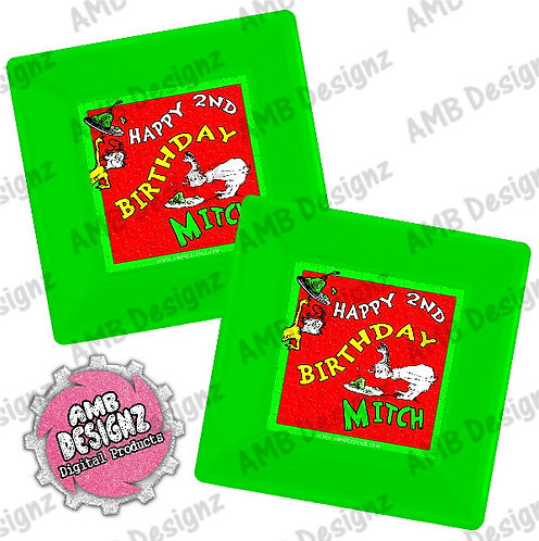 Dr. Seuss Green Eggs and Ham Plates Party Supplies