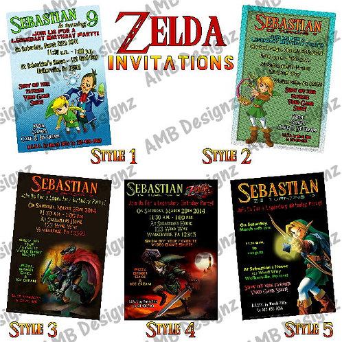 Zelda Custom Digital Invitation