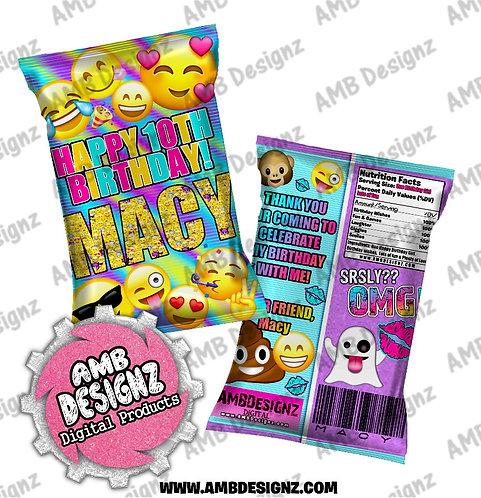 Emoji Chip Bag Party Favor - Emoji Party Supplies