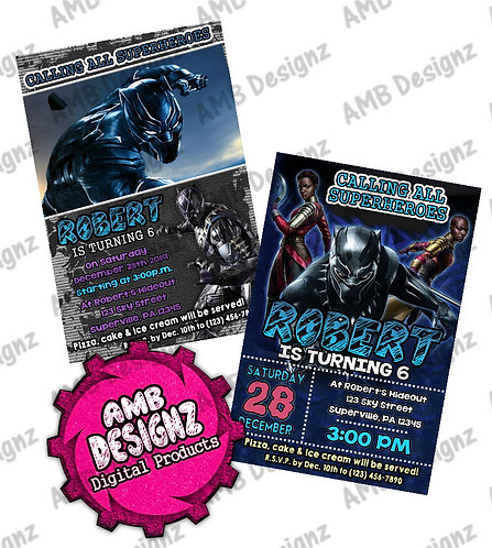 Black Panther Invitations - Black Panther Party Supplies